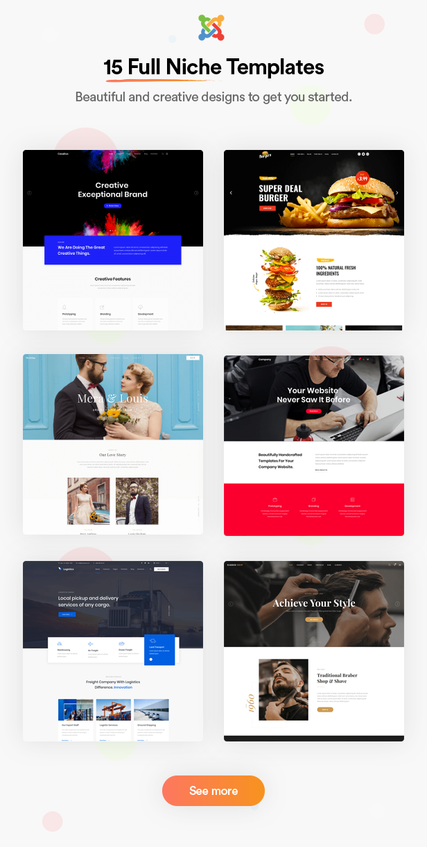 Joo - Niche Multipurpose Joomla Template With Page Builder - 2